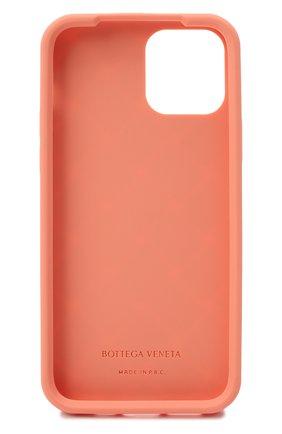 Чехол для iphone 12 BOTTEGA VENETA персикового цвета, арт. 670188/V0EY0   Фото 2