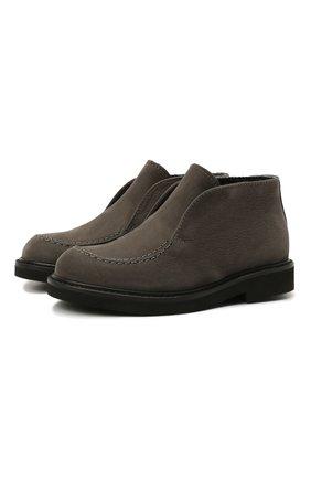 Детские кожаные ботинки MONTELPARE TRADITION серого цвета, арт. MT20061/M0RBID0NE/M0NT0NE/28-35 | Фото 1