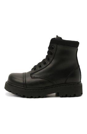Детские кожаные ботинки MONTELPARE TRADITION черного цвета, арт. MT19202/VITELL0/NAKAI/18-27 | Фото 2