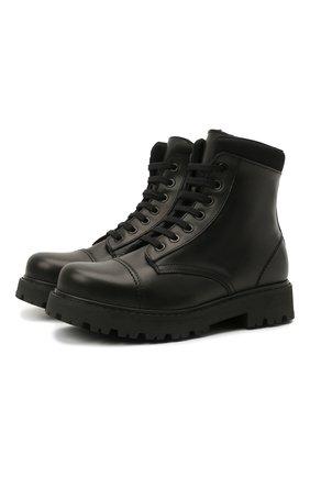 Детские кожаные ботинки MONTELPARE TRADITION черного цвета, арт. MT19202/VITELL0/NAKAI/36-41 | Фото 1