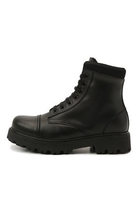 Детские кожаные ботинки MONTELPARE TRADITION черного цвета, арт. MT19202/VITELL0/NAKAI/36-41 | Фото 2