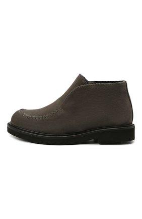 Детские кожаные ботинки MONTELPARE TRADITION серого цвета, арт. MT20061/M0RBID0NE/M0NT0NE/18-27 | Фото 2
