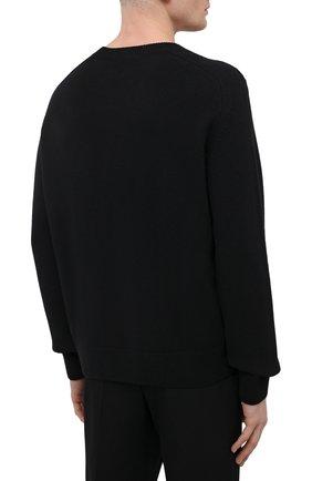 Мужской шерстяной свитер BOTTEGA VENETA темно-синего цвета, арт. 638771/V07J0 | Фото 4 (Материал внешний: Шерсть; Рукава: Длинные; Принт: Без принта; Длина (для топов): Стандартные; Стили: Минимализм)