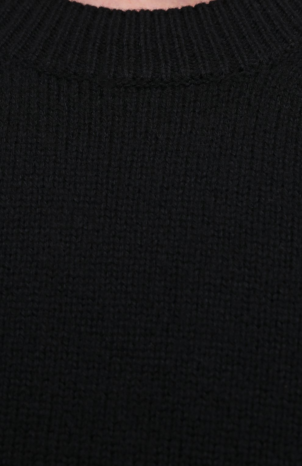 Мужской шерстяной свитер BOTTEGA VENETA темно-синего цвета, арт. 638771/V07J0 | Фото 5 (Материал внешний: Шерсть; Рукава: Длинные; Принт: Без принта; Длина (для топов): Стандартные; Стили: Минимализм)