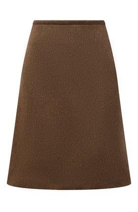 Женская юбка BOTTEGA VENETA коричневого цвета, арт. 668574/V0XS0 | Фото 1