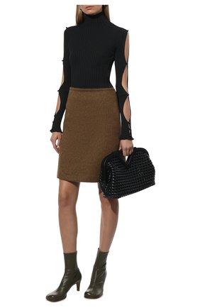 Женская юбка BOTTEGA VENETA коричневого цвета, арт. 668574/V0XS0 | Фото 2