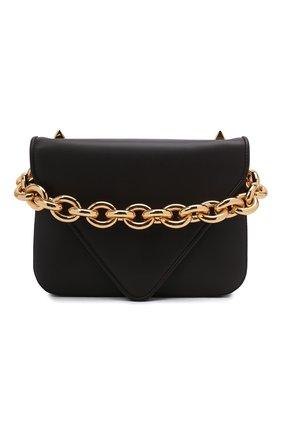 Женская сумка mount small BOTTEGA VENETA коричневого цвета, арт. 667399/V12J0 | Фото 1 (Материал: Натуральная кожа; Сумки-технические: Сумки top-handle; Ремень/цепочка: На ремешке; Размер: small)