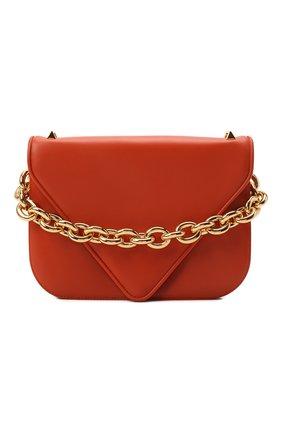 Женская сумка mount BOTTEGA VENETA оранжевого цвета, арт. 667398/V12J0 | Фото 1 (Материал: Натуральная кожа; Сумки-технические: Сумки top-handle; Ремень/цепочка: На ремешке; Размер: medium)