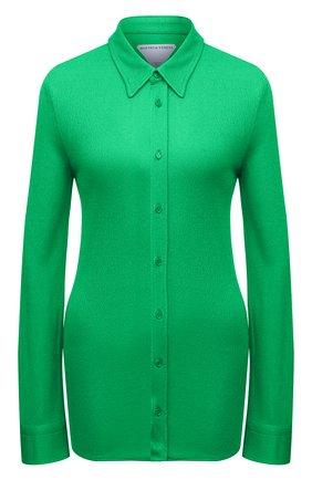 Женская рубашка из вискозы BOTTEGA VENETA зеленого цвета, арт. 666230/VA6T0 | Фото 1