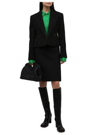 Женская рубашка из вискозы BOTTEGA VENETA зеленого цвета, арт. 666230/VA6T0 | Фото 2