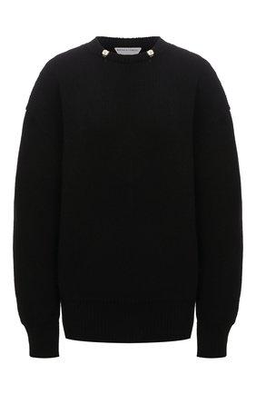 Женский шерстяной свитер BOTTEGA VENETA черного цвета, арт. 665073/V0Z40 | Фото 1 (Длина (для топов): Стандартные; Материал внешний: Шерсть; Рукава: Длинные; Стили: Гламурный; Женское Кросс-КТ: Свитер-одежда)