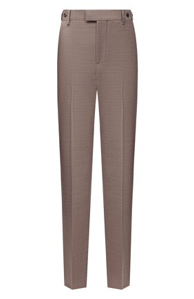 Женские шерстяные брюки BOTTEGA VENETA бежевого цвета, арт. 664620/VKIU0 | Фото 1