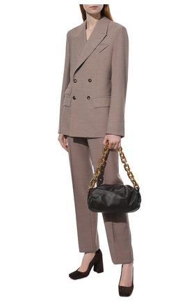 Женские шерстяные брюки BOTTEGA VENETA бежевого цвета, арт. 664620/VKIU0 | Фото 2