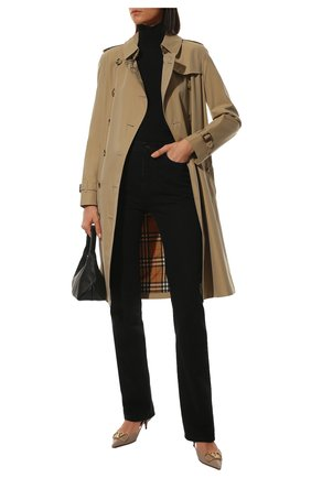 Женская водолазка из вискозы BOTTEGA VENETA черного цвета, арт. 664274/V09V0   Фото 2 (Длина (для топов): Стандартные; Рукава: Длинные; Стили: Гламурный; Материал внешний: Вискоза; Женское Кросс-КТ: Водолазка-одежда)