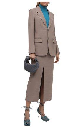Женский шерстяной жакет BOTTEGA VENETA бежевого цвета, арт. 659384/VKIU0 | Фото 2