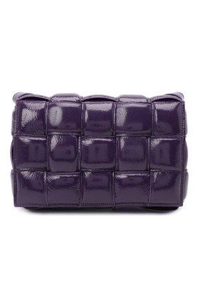 Женская сумка padded cassette BOTTEGA VENETA фиолетового цвета, арт. 591970/V13Y1 | Фото 1 (Материал: Натуральная кожа; Сумки-технические: Сумки через плечо; Ремень/цепочка: На ремешке; Размер: medium)