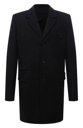 Мужской шерстяное пальто BOTTEGA VENETA черного цвета, арт. 659597/VKUU0 | Фото 1 (Материал внешний: Шерсть; Материал подклада: Вискоза; Длина (верхняя одежда): До середины бедра; Рукава: Длинные; Стили: Классический, Минимализм; Мужское Кросс-КТ: пальто-верхняя одежда)