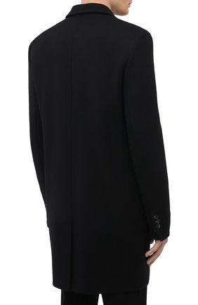Мужской шерстяное пальто BOTTEGA VENETA черного цвета, арт. 659597/VKUU0 | Фото 4 (Материал внешний: Шерсть; Рукава: Длинные; Длина (верхняя одежда): До середины бедра; Стили: Классический, Минимализм; Материал подклада: Вискоза; Мужское Кросс-КТ: пальто-верхняя одежда)