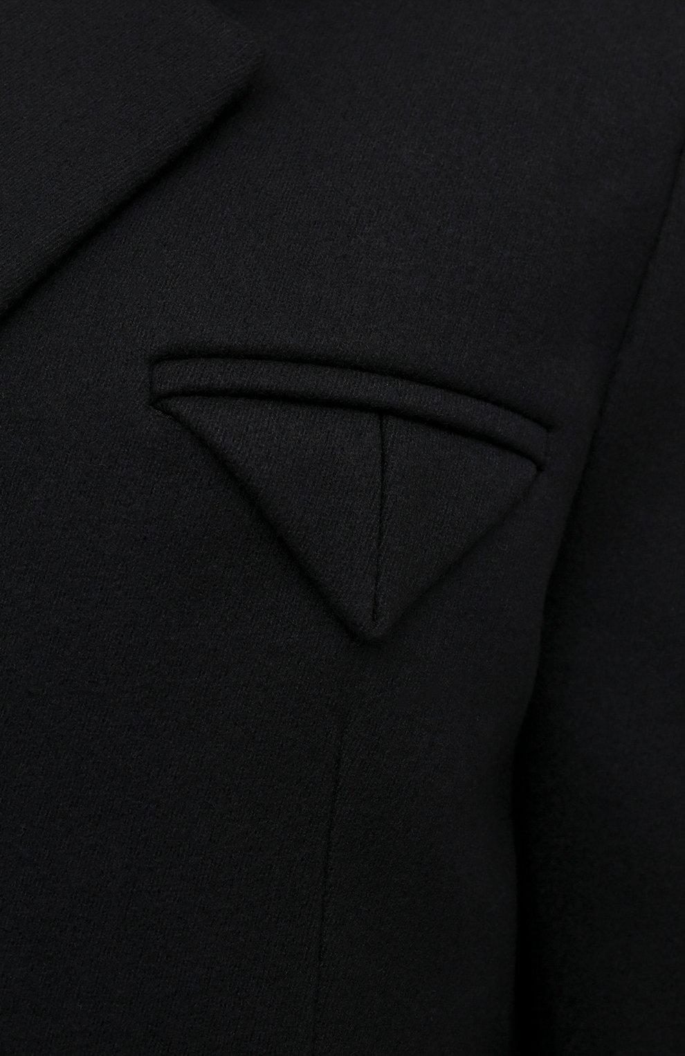 Мужской шерстяное пальто BOTTEGA VENETA черного цвета, арт. 659597/VKUU0 | Фото 5 (Материал внешний: Шерсть; Рукава: Длинные; Длина (верхняя одежда): До середины бедра; Стили: Классический, Минимализм; Материал подклада: Вискоза; Мужское Кросс-КТ: пальто-верхняя одежда)