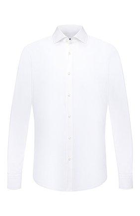 Мужская сорочка BOSS белого цвета, арт. 50454083 | Фото 1 (Материал внешний: Хлопок, Лиоцелл; Длина (для топов): Стандартные; Рукава: Длинные; Случай: Формальный; Рубашки М: Regular Fit; Манжеты: На пуговицах; Принт: Однотонные; Воротник: Акула)