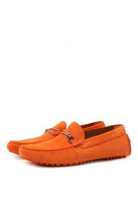 Мужские замшевые мокасины BOSS оранжевого цвета, арт. 50458297 | Фото 1 (Стили: Кэжуэл; Материал внешний: Замша)