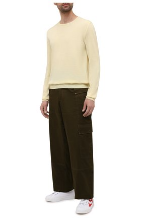 Мужские текстильные кеды DSQUARED2 белого цвета, арт. SNM0171 00300001 | Фото 2