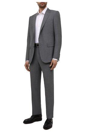 Мужские кожаные монки KITON черного цвета, арт. USSWALTN00100 | Фото 2 (Материал внутренний: Натуральная кожа; Стили: Классический; Мужское Кросс-КТ: Броги-обувь)