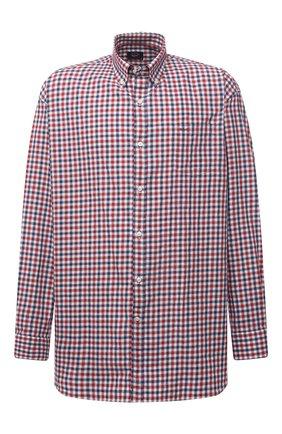 Мужская хлопковая рубашка PAUL&SHARK красного цвета, арт. 11313047/C00 | Фото 1
