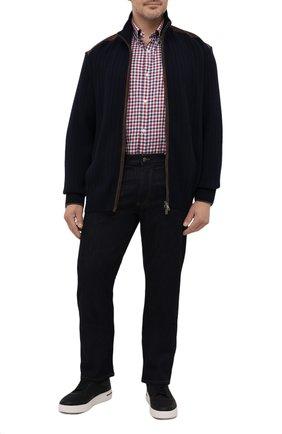 Мужская хлопковая рубашка PAUL&SHARK красного цвета, арт. 11313047/C00 | Фото 2