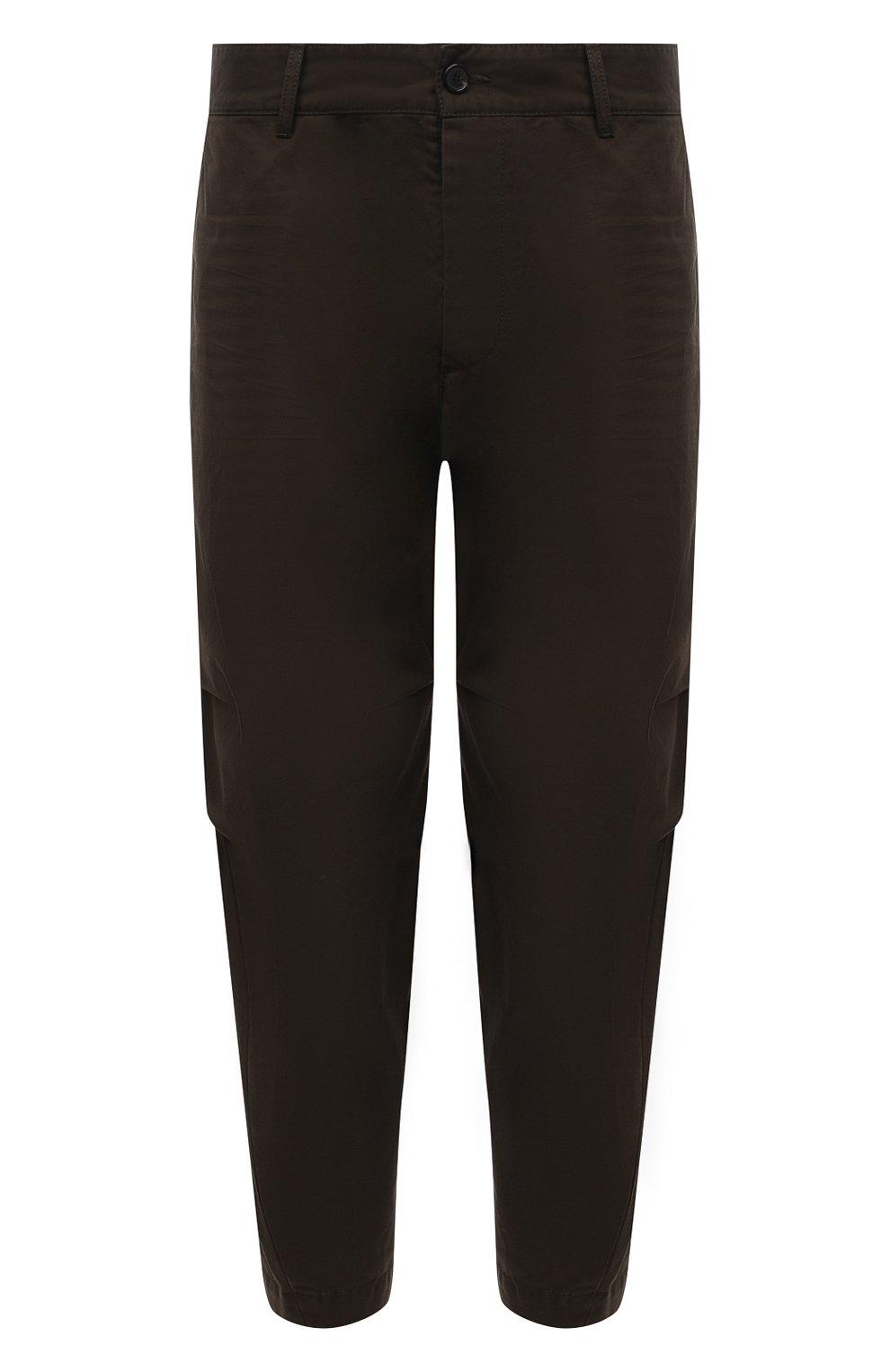 Мужские хлопковые брюки DSQUARED2 хаки цвета, арт. S74KB0591/S41794   Фото 1 (Длина (брюки, джинсы): Стандартные; Случай: Повседневный; Стили: Гранж; Материал внешний: Хлопок)