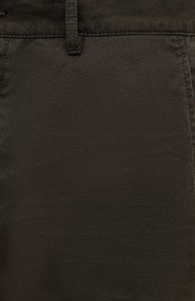 Мужские хлопковые брюки DSQUARED2 хаки цвета, арт. S74KB0591/S41794   Фото 5 (Длина (брюки, джинсы): Стандартные; Случай: Повседневный; Стили: Гранж; Материал внешний: Хлопок)
