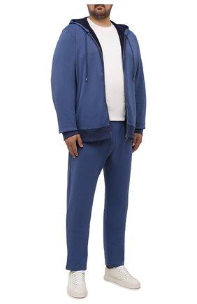 Мужские брюки CANALI темно-синего цвета, арт. T0699B/MJ01282   Фото 2