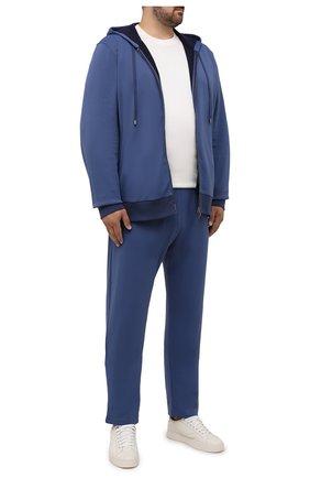 Мужской толстовка CANALI темно-синего цвета, арт. T0698B/MJ01282 | Фото 2 (Материал внешний: Хлопок, Синтетический материал; Рукава: Длинные; Big sizes: Big Sizes; Мужское Кросс-КТ: Толстовка-одежда; Стили: Спорт-шик)