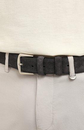 Мужской замшевый ремень LORO PIANA темно-серого цвета, арт. FAA1544 | Фото 2