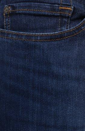 Мужские джинсы 7 FOR ALL MANKIND синего цвета, арт. JSD4U580TU   Фото 5 (Силуэт М (брюки): Узкие; Длина (брюки, джинсы): Стандартные; Материал внешний: Хлопок)
