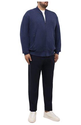 Мужской толстовка POLO RALPH LAUREN темно-синего цвета, арт. 711842844/PRL BS   Фото 2 (Материал внешний: Хлопок; Рукава: Длинные; Big sizes: Big Sizes; Мужское Кросс-КТ: Толстовка-одежда; Стили: Спорт-шик)