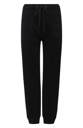 Женские хлопковые джоггеры BURBERRY черного цвета, арт. 8043467 | Фото 1