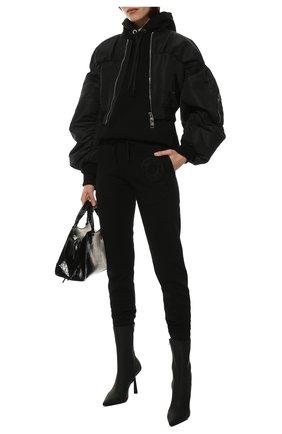 Женские хлопковые джоггеры BURBERRY черного цвета, арт. 8043467 | Фото 2