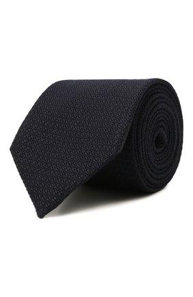 Мужской галстук из шелка и кашемира ZEGNA COUTURE темно-синего цвета, арт. Z2C05T/13X | Фото 1 (Материал: Текстиль, Шерсть, Кашемир; Принт: Без принта)
