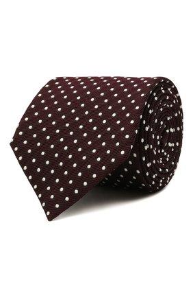 Мужской шелковый галстук ZEGNA COUTURE бордового цвета, арт. Z2C03T/13X   Фото 1