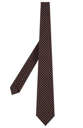 Мужской шелковый галстук ZEGNA COUTURE бордового цвета, арт. Z2C03T/13X   Фото 2