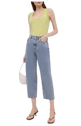 Женские джинсы GANNI голубого цвета, арт. F5718 | Фото 2