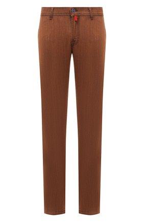 Мужские джинсы KITON коричневого цвета, арт. UFPPTM/J0336A | Фото 1 (Материал внешний: Хлопок; Силуэт М (брюки): Прямые; Длина (брюки, джинсы): Стандартные; Стили: Кэжуэл; Кросс-КТ: Деним)