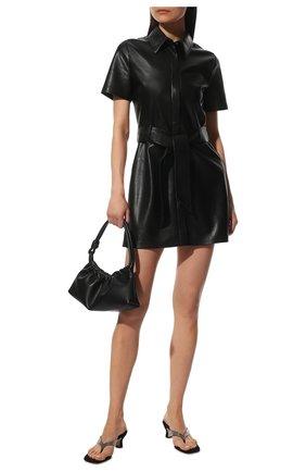 Женское платье NANUSHKA черного цвета, арт. NW20CRDR02299   Фото 2