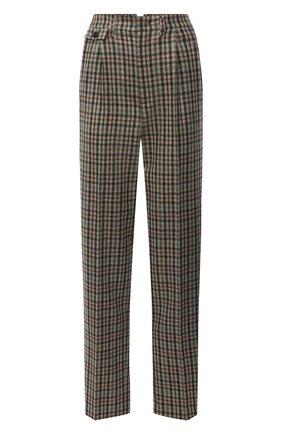 Женские брюки из кашемира и шелка LORO PIANA зеленого цвета, арт. FAL8048 | Фото 1 (Длина (брюки, джинсы): Стандартные; Материал внешний: Кашемир, Шерсть; Женское Кросс-КТ: Брюки-одежда; Стили: Кэжуэл; Силуэт Ж (брюки и джинсы): Прямые)