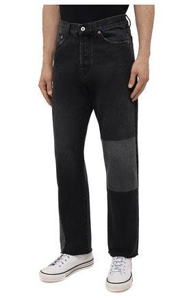 Мужские джинсы VALENTINO серого цвета, арт. WV3DE01U7FU | Фото 3 (Силуэт М (брюки): Прямые; Длина (брюки, джинсы): Стандартные; Материал внешний: Хлопок; Стили: Кэжуэл)