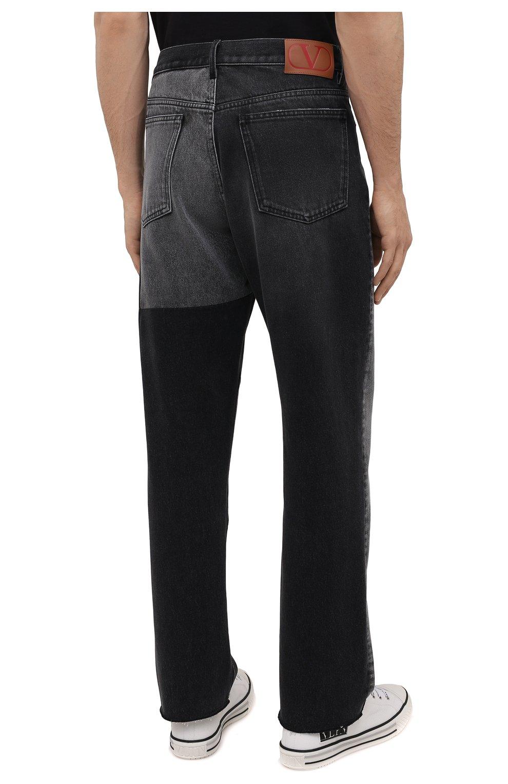 Мужские джинсы VALENTINO серого цвета, арт. WV3DE01U7FU | Фото 4 (Силуэт М (брюки): Прямые; Длина (брюки, джинсы): Стандартные; Материал внешний: Хлопок; Стили: Кэжуэл)