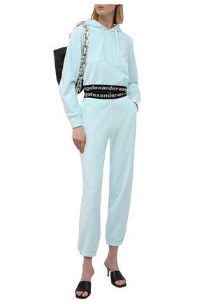 Женские джоггеры ALEXANDERWANG.T голубого цвета, арт. 4CC1204024 | Фото 2