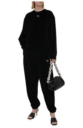 Женские хлопковые джоггеры ALEXANDERWANG.T черного цвета, арт. 4CC3214111 | Фото 2