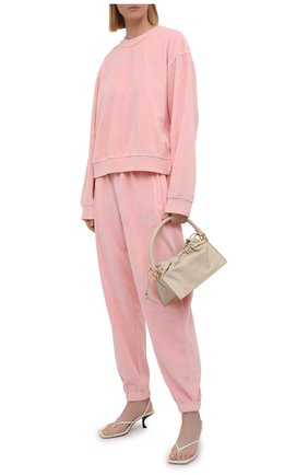 Женские хлопковые джоггеры ALEXANDERWANG.T розового цвета, арт. 4CC3214111 | Фото 2